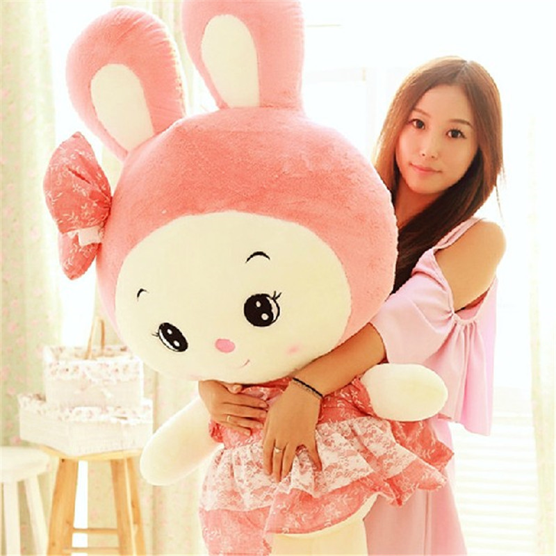 可爱公主兔毛绒玩具大号抱枕布娃娃兔子公仔玩偶生日礼物女 150cm