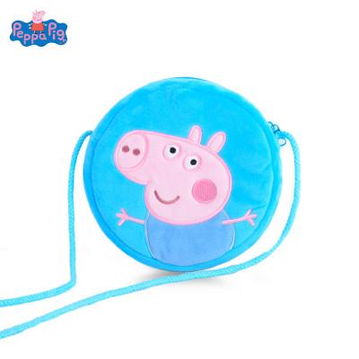 小豬佩奇Peppa Pig毛絨玩具喬治圓形錢包 16cm
