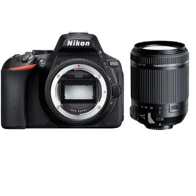 尼康(Nikon)数码单反相机 D5600+18-200mm 腾龙镜头套机 赠送存储卡、相机包、滤镜、清洁套装