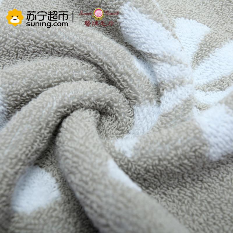 馨牌 纯棉毛巾 荷兰风车加厚提花毛巾 吸水舒适柔软厚实成人洗脸毛巾(单条装) 76*34cm 灰色