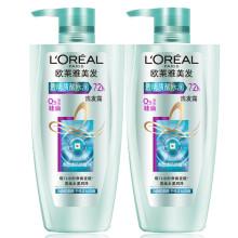 欧莱雅(LOREAL)透明质酸水润两件套超值装洗发露500ml*2瓶++赠200ml茶树润发乳(赠品随机发货)
