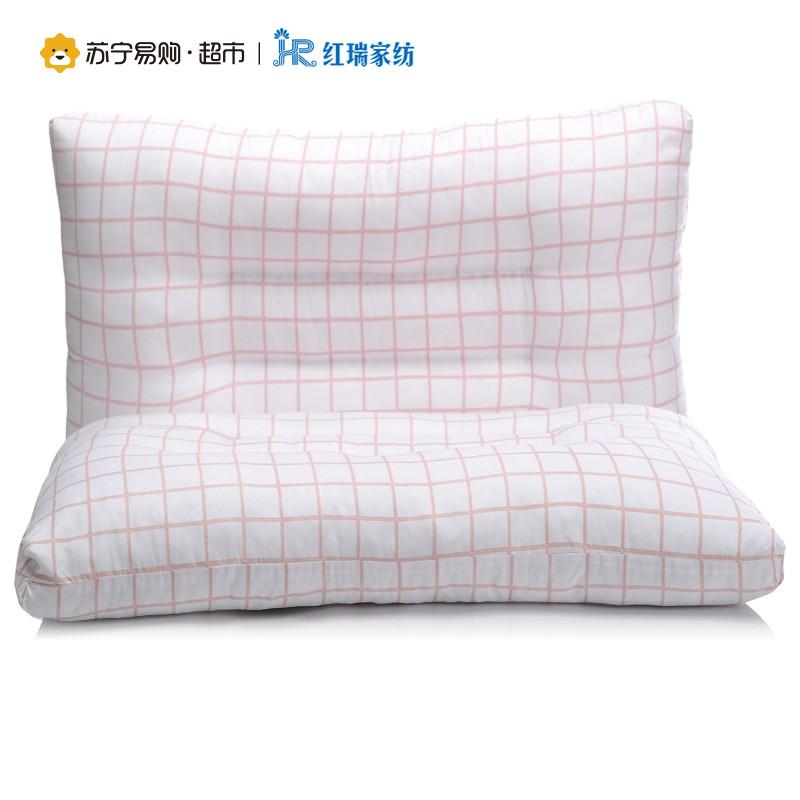 红瑞家纺 时尚枕芯系列 羽丝绒高回弹枕芯枕头 45*70cm 时尚-橙