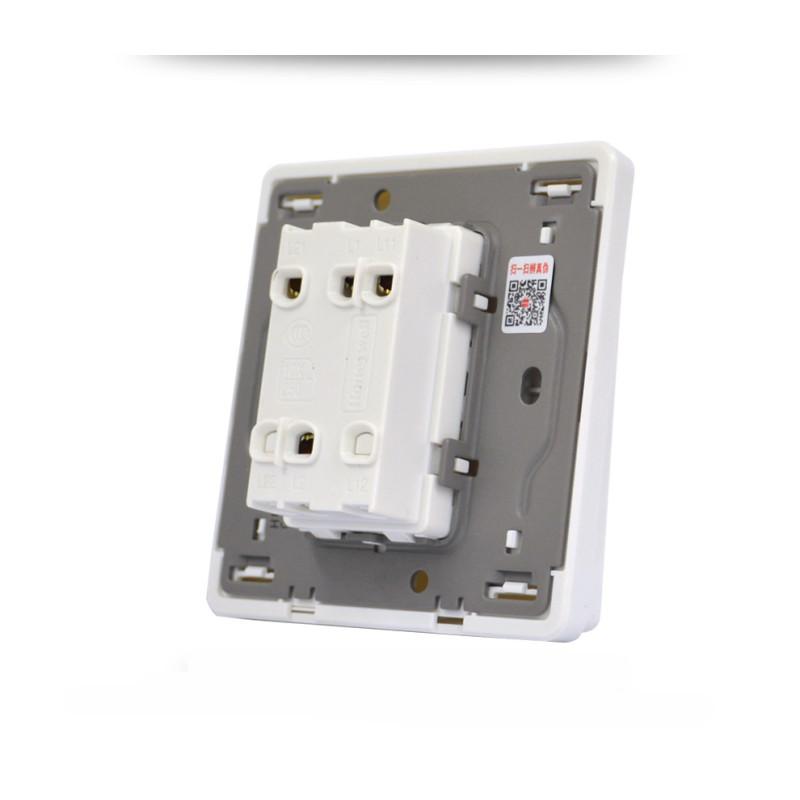霍尼韦尔开关插座面板优雅系列白色双开单控开关86型双联单控开关带荧