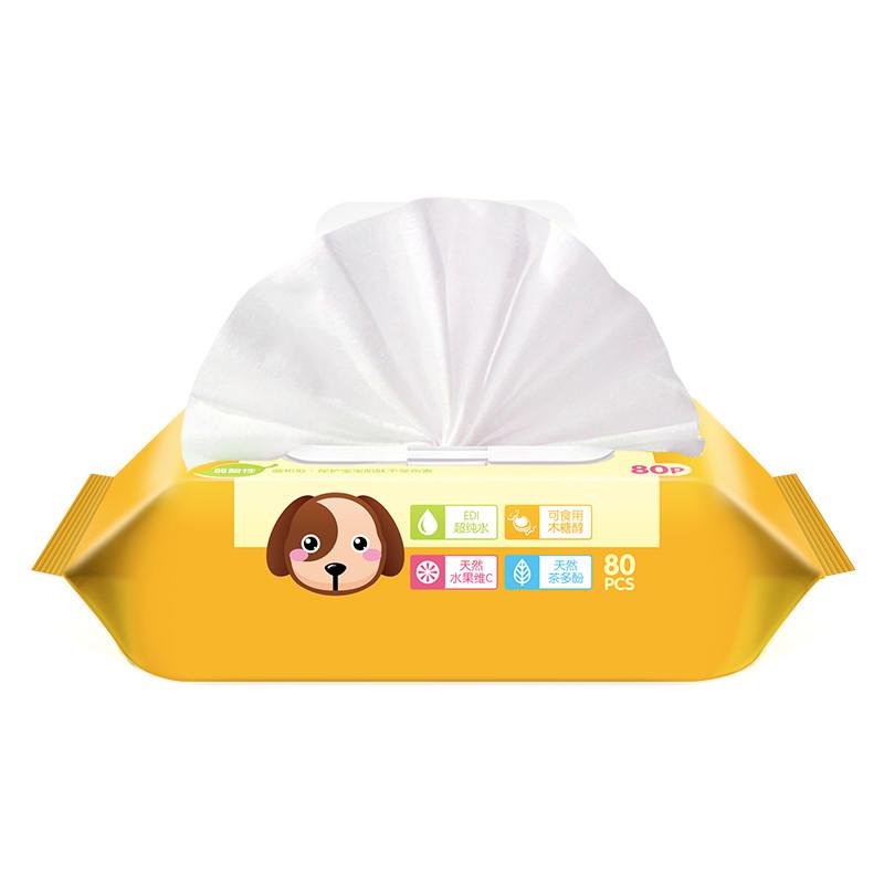 【苏宁自营】可爱多婴儿湿巾新生儿湿巾手口湿巾80片*3包 组合装