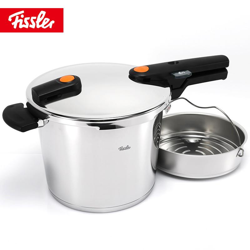 菲仕乐(fissler)高压锅 600341060730 橙色沸点22厘米6升高速快锅高压锅压力锅