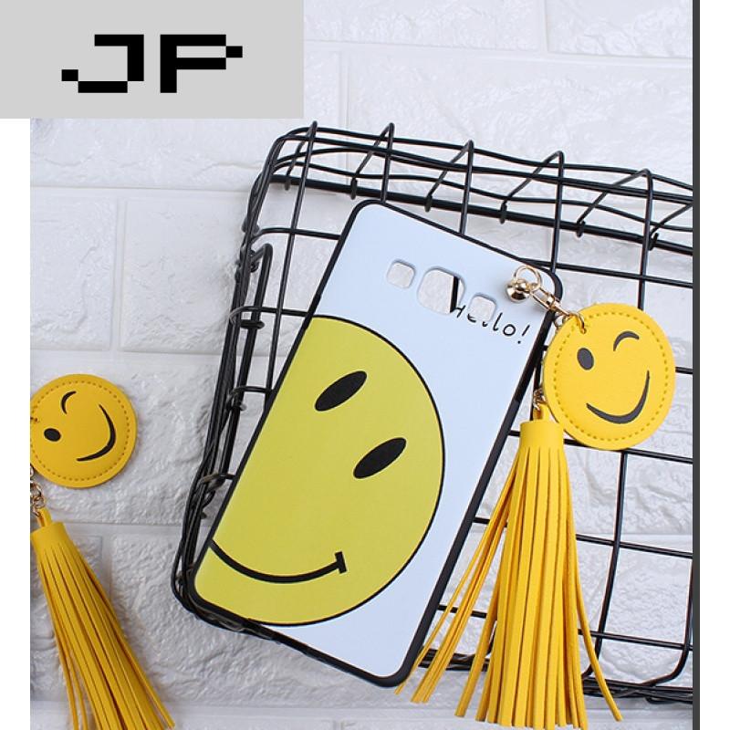 壳sm-g7108v保护套g7105硅胶软g7109可爱笑脸 白底happy笑脸 长流苏