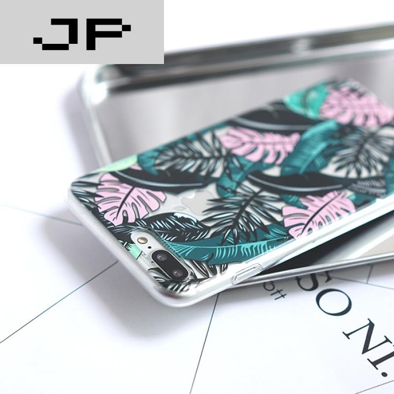 jp潮流品牌龟背竹叶子北欧极简风ins热款iphone6/6s plus 7代手机壳