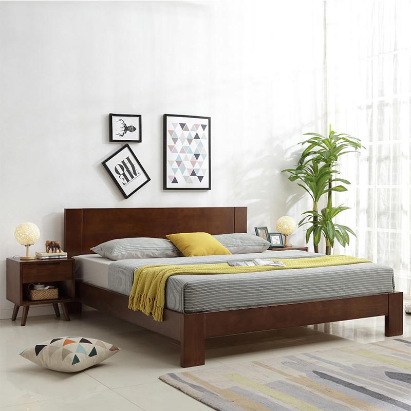 臻享家 床 实木床 北欧风格床 1.8米双人床 现代简约宜家布艺床 1.图片