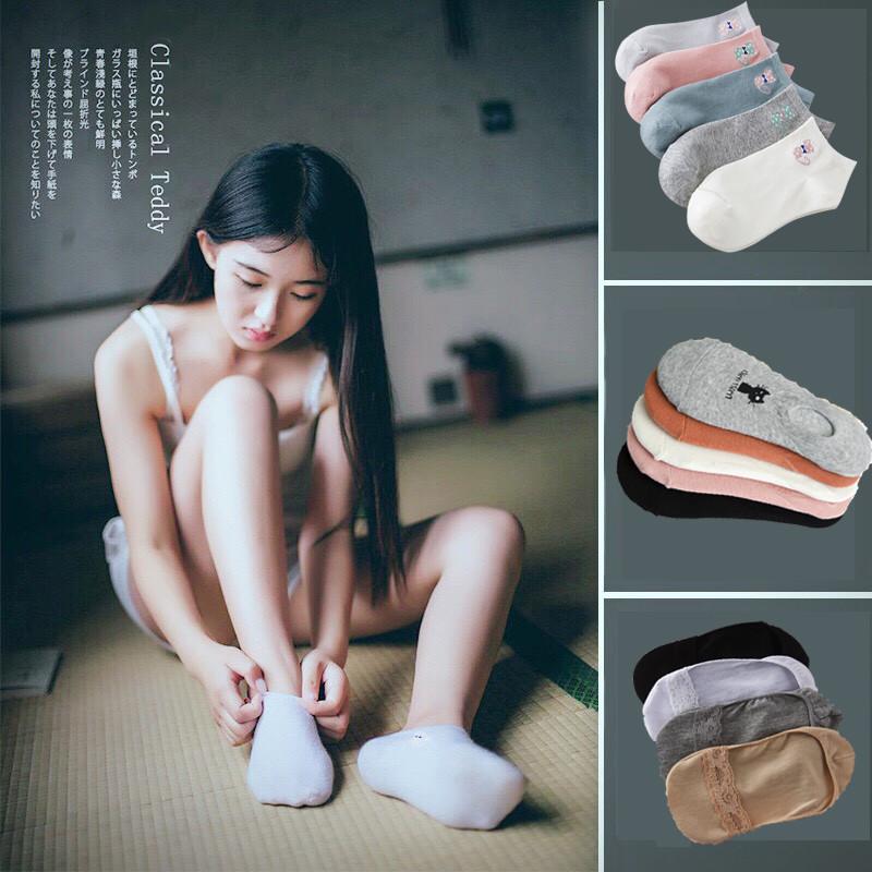 818款英国全棉短袜浅口低帮船袜夏季隐形薄款韩版可爱袜子女 默认尺寸