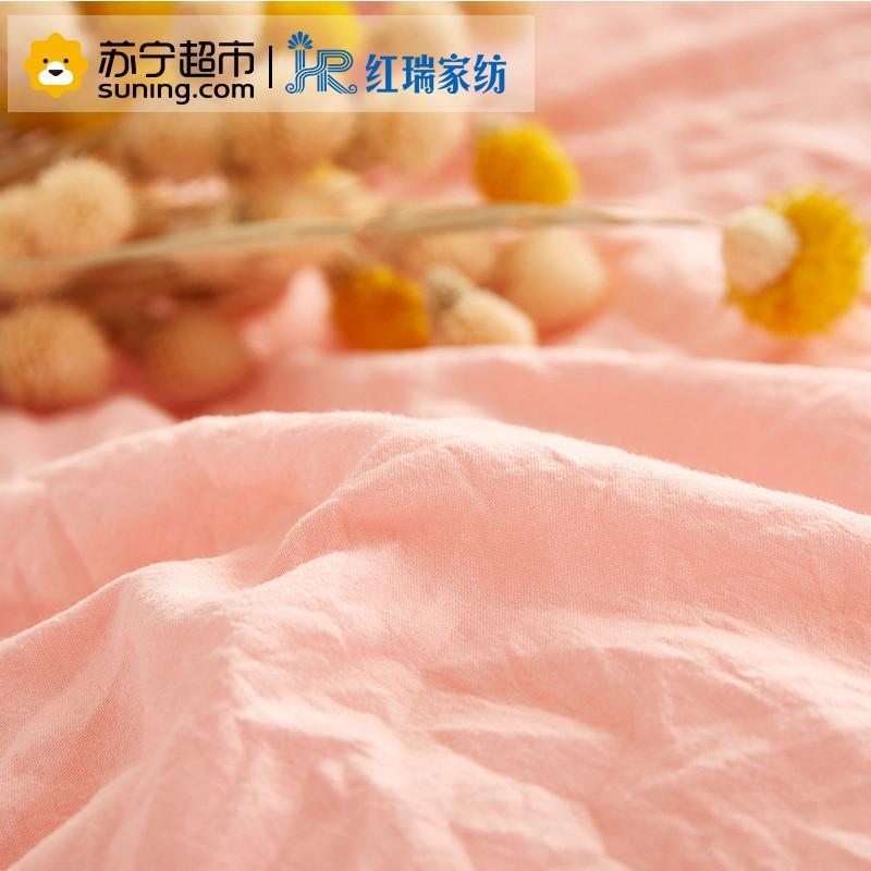 【苏宁超市】红瑞家纺 水洗棉春秋被四季被 1.5*2.0m 浅灰