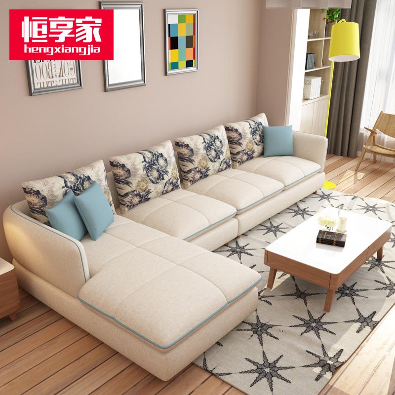Hengxiang брэндийн зочны өрөөний даавуун буйдан 2019 оны  загвар өнгөний олон сонголттой