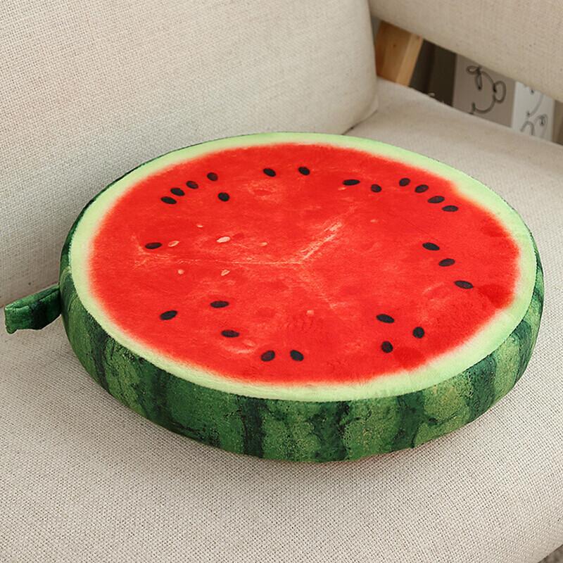 创意可爱西瓜水果坐垫靠垫抱枕加厚 橘子
