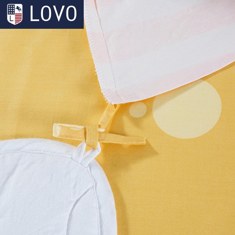 LOVO儿童全棉斜纹三件套巧克力熊 1.2m床 巧克力熊