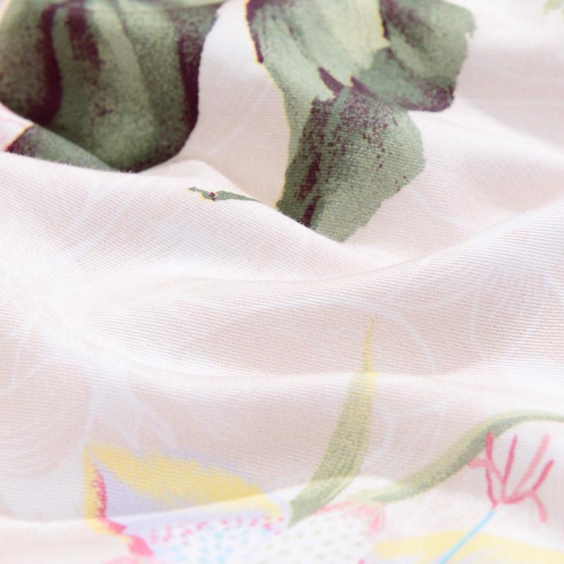 【苏宁超市】富安娜家纺馨而乐家纺秋冬纯棉磨毛四件套保暖套件全棉套件 巴尔达圆舞曲 1.5m床 橙色