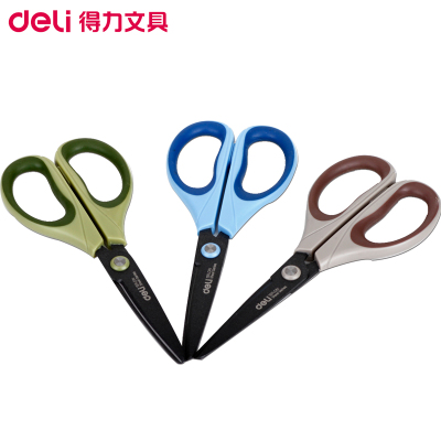 得力(deli)6055特氟龙剪刀170mm 3把 合金不锈钢剪刀 办公剪刀 美工剪刀 剪/刀/尺