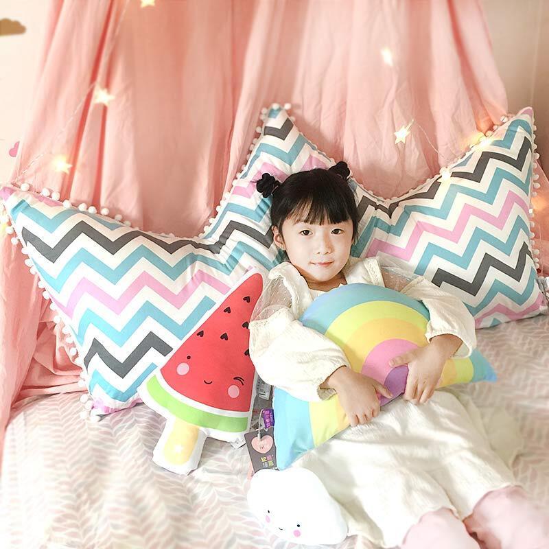 抱枕床头靠枕可爱单人公主床大靠背卡通全棉床上靠垫儿童 特大号148x6