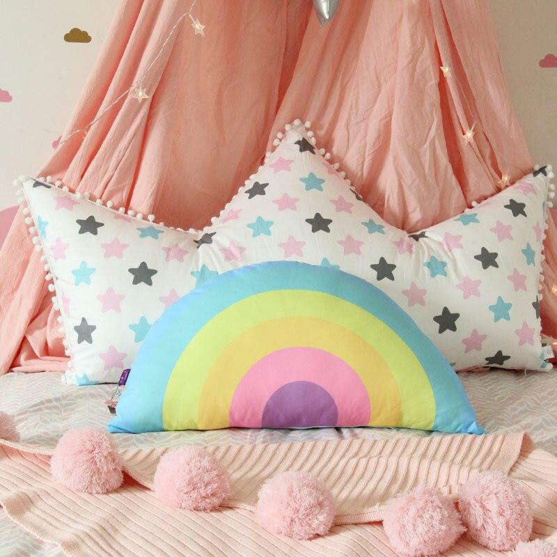 抱枕床头靠枕可爱单人公主床大靠背卡通全棉床上靠垫儿童 大号110x