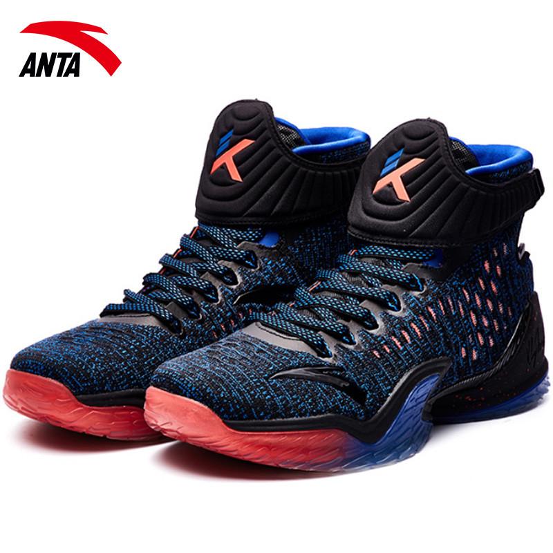 安踏篮球鞋汤普森3代2017秋季新款运动鞋男kt3战靴男鞋11741101 黑