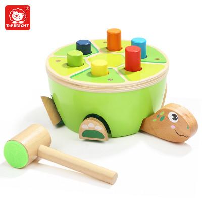 特寶兒(Topbright) 烏龜敲打臺 兩歲以上兒童及成人男孩女孩寶寶小錘子敲打木質益智敲敲樂打樁臺玩具120332