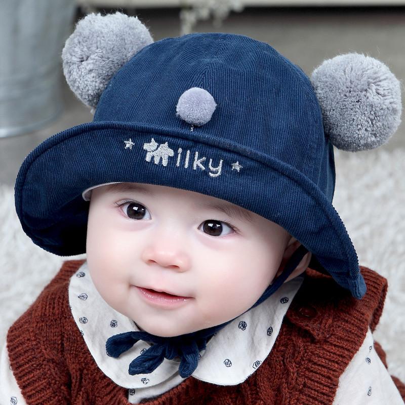 milky friends宝宝帽子秋冬婴儿渔夫帽男女通用可爱毛