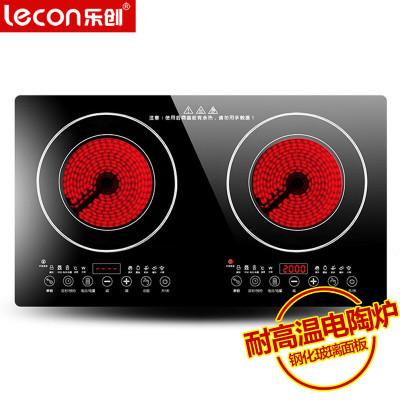 樂創(lecon)LC50E 商用雙頭電陶灶家用電陶灶嵌入式 雙電陶爐