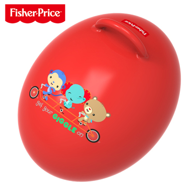 费雪(Fisher Price)儿童玩具球 宝宝健身球 蛋形跳跳球(红色 赠充气脚泵)F0706H4