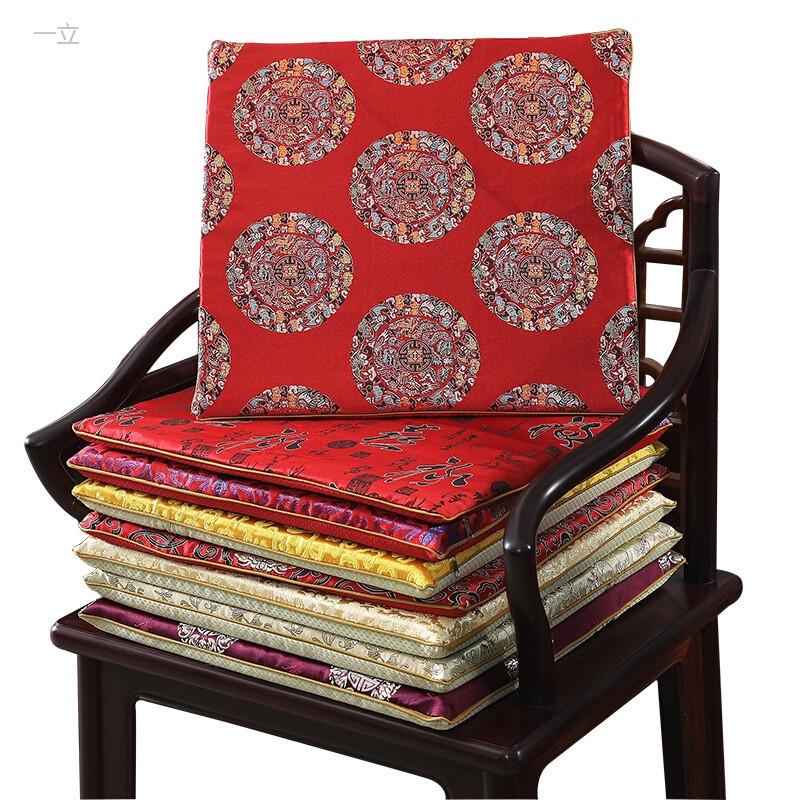 一立红木沙发坐垫椅垫座垫新中式椅子垫子茶座实木圈椅太师椅加厚防滑图片