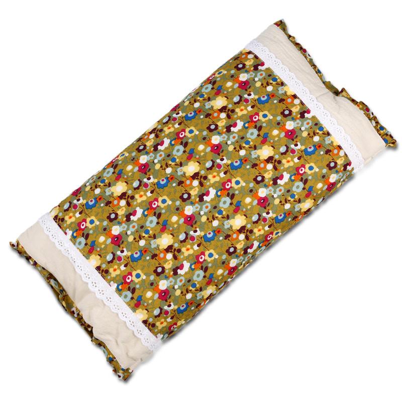 纯棉儿童枕头小号1-3-6岁全棉田园碎花韩式可爱低枕薄