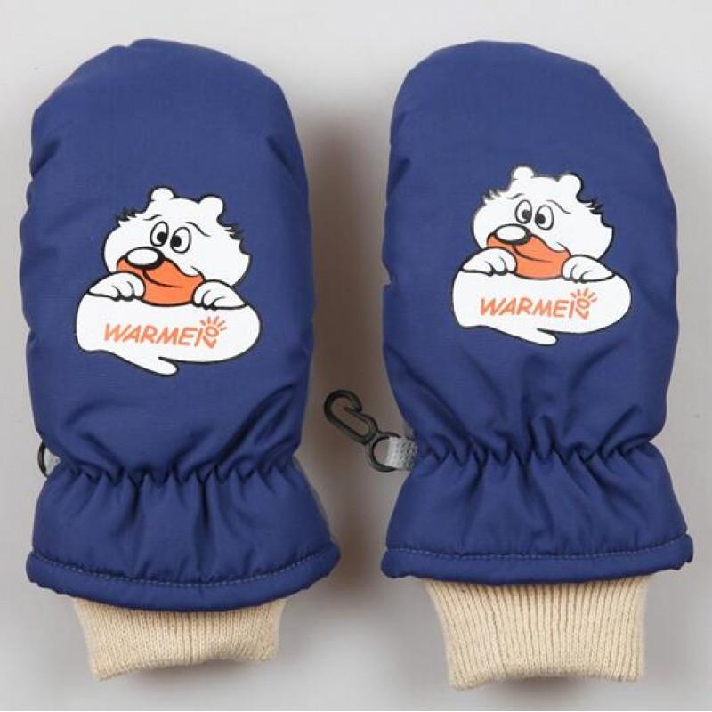 新款冬季儿童手套男女童通用孩子户外保暖可爱宝宝滑雪手套_1 橙色(1