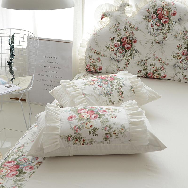 纯棉公主风四件套韩式田园碎花床上用品全棉床单被套双人1.82.0米 1.
