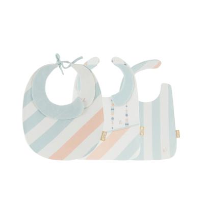 良良 (liangliang)3条装婴儿围嘴纯棉宝宝口水巾双按扣新生儿围兜四季款