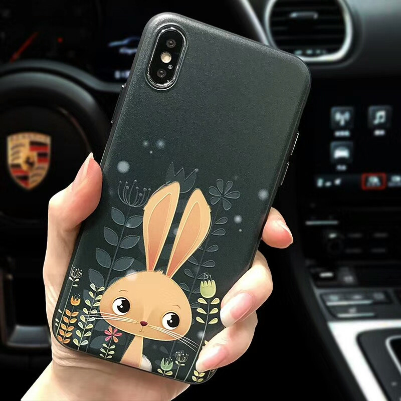 魅爱琳 iphonex/苹果10/苹果x手机壳 卡通浮雕 5.