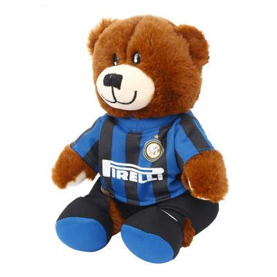 國際米蘭俱樂部Inter Milan官方吉祥物可愛小熊公仔毛絨玩具兒童禮物