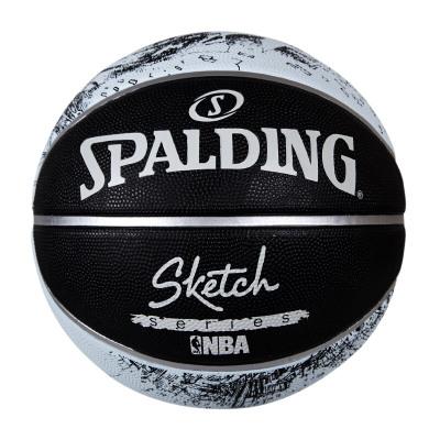 斯伯丁SPALDING篮球 83-534Y室外用篮球 素描涂鸦系列 街头篮球风 橡胶材质