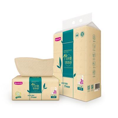 开丽 本色月子纸 孕妇刀纸产后专用母子卫生纸竹纤维纸巾餐巾纸1提3包装 竹纤维生态本色好纸 孕妇日常护理用品 孕产包用品