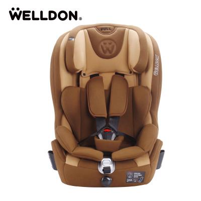 Welldon惠尔顿儿童安全座椅汽车9个月-12岁isofix婴儿宝宝酷睿宝提拉米苏棕