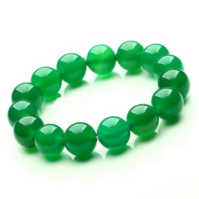 左傳 綠玉髓圓珠手串 單圈手鏈 約12mm 16顆 綠色