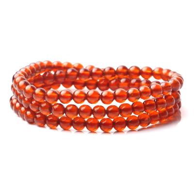 左傳 高品質橙紅色石榴石108顆5mm 三圈效果 手鏈 手串 橙色石榴石5mm