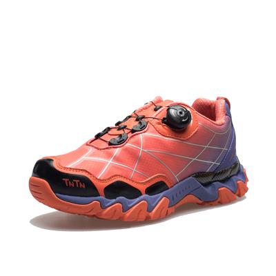 进口速扣 男款紫桔色徒步鞋 透气新潮