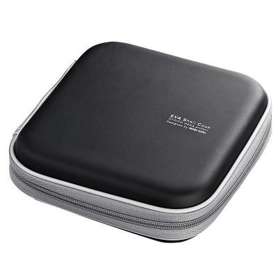 日本山業(Sanwa supply)車載CD包/光盤收納包/汽車用CD盒/24片裝FCD-SH24BK 24片黑色