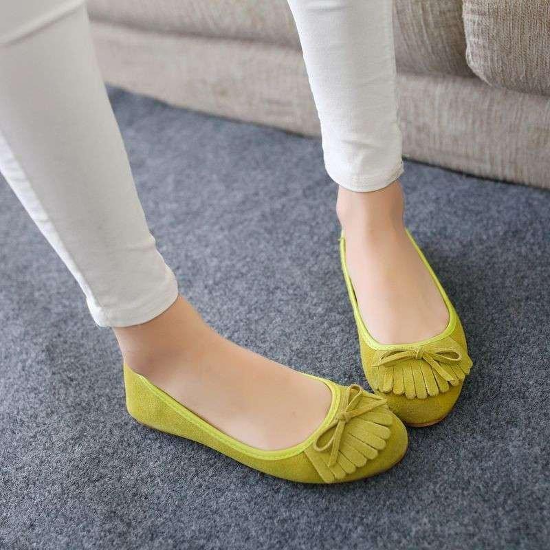 流苏懒人鞋