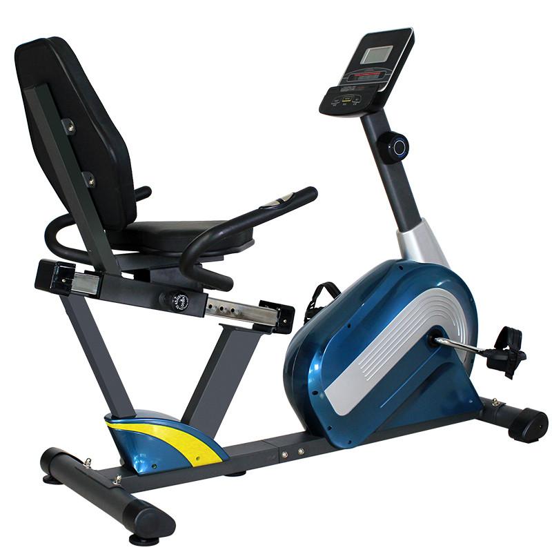 家用小型健身器材大全_动感单车家用超静音磁控老人运动健身器材jth-735r脚踏卧式健身车