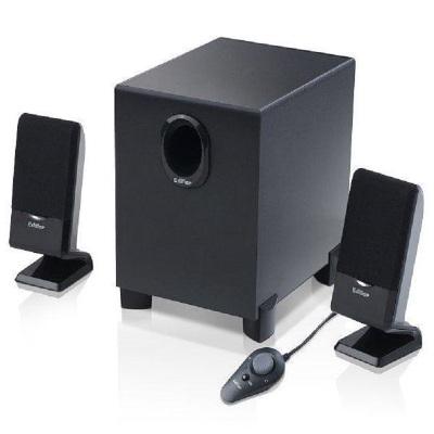 漫步者(EDIFIER) R101T06 多媒体有源电脑音箱 线控低音炮音响 黑色