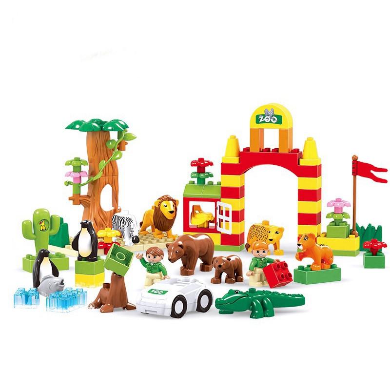 爱亲亲 开心动物员系列大颗粒积木益智玩具
