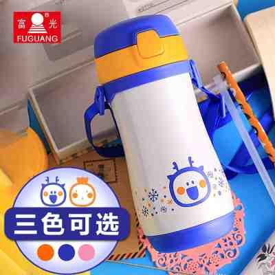 儿童保温杯吸管防漏可爱水杯卡通男女宝宝水壶学生