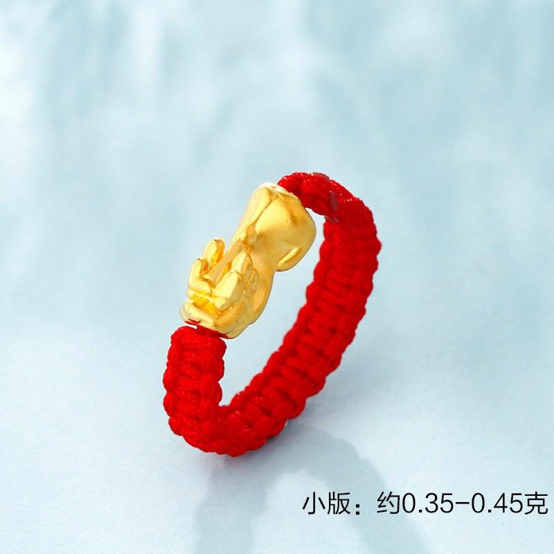 貔貅红绳戒指编法图解