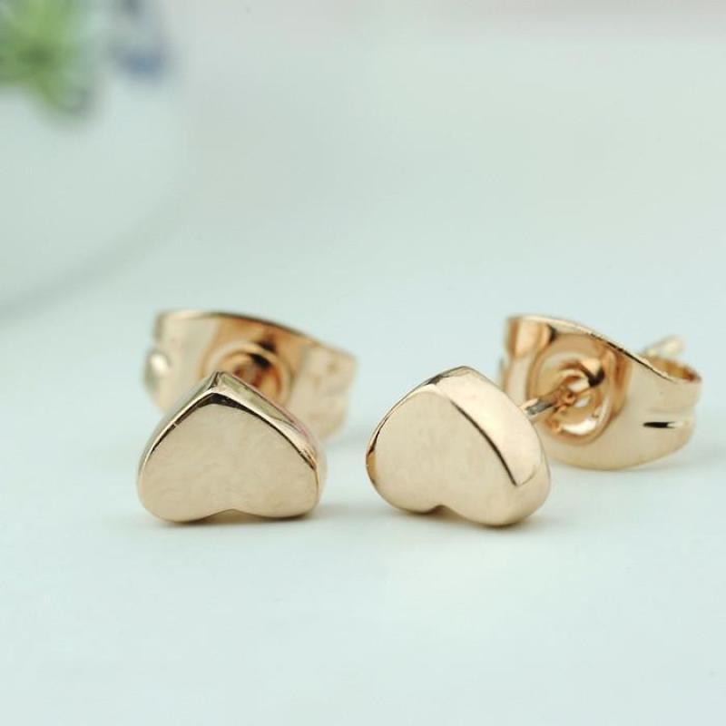迈姿 耳钉321606 小可爱心形耳钉 韩版韩式 厚镀18k金饰品