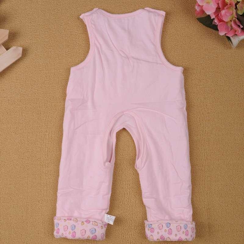茜诗尔xsr童装 纯棉婴儿背带裤秋冬宝宝衣服新生儿长裤 粉色