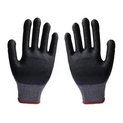 謀福 棉紗勞保手套 涂膠掛膠浸塑浸膠手套 防滑耐磨耐用工人工作手套 一打12付
