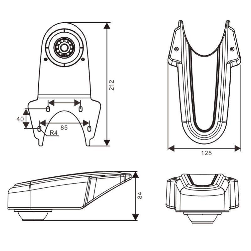 手绘房车结构图
